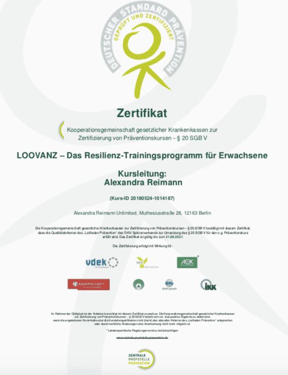 Alexandra Reimann Unlimited - zertifizierte Resilienzkurse